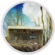 Cabin Fever Round Beach Towel