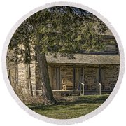 Cabin In The Wood Round Beach Towel