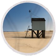 Cabin With A View. Round Beach Towel