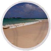 Cable Beach Bahamas Round Beach Towel