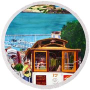 Cable Car No. 17 Round Beach Towel