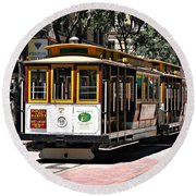Cable Car - San Francisco Round Beach Towel