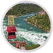 Cable Car Whitewater Round Beach Towel