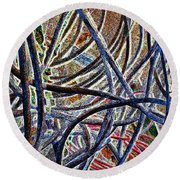 Cable Jungle Round Beach Towel
