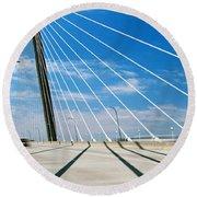 Cable-stayed Bridge, Arthur Ravenel Jr Round Beach Towel
