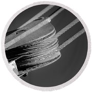 Cables And Pulleys Round Beach Towel