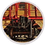 Caboose On The Loose Round Beach Towel