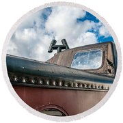 Caboose Roof Round Beach Towel