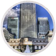 Cabot Square London Round Beach Towel