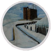 Cabot Tower Newfoundland Round Beach Towel