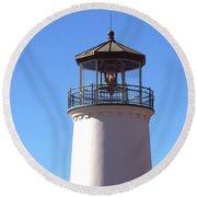 Cabrillo Street Lighthouse Round Beach Towel