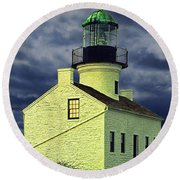 Cabrillo National Monument Lighthouse No 1 Round Beach Towel