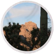 Cacti Round Beach Towel
