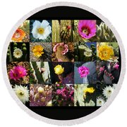 Cactus Collage Round Beach Towel