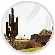 Cactus Golf Round Beach Towel