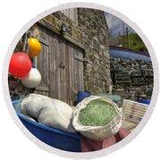Cadgwith Fishing Paraphernalia  Round Beach Towel