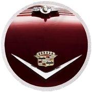 Cadillac Emblem And Hood Ornament Round Beach Towel