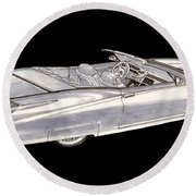 1963 64 Cadillac Roadster Concept Round Beach Towel