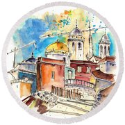 Cadiz Spain 02 Round Beach Towel