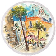 Cadiz Spain 04 Round Beach Towel