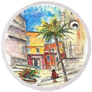 Cadiz Spain 05 Round Beach Towel