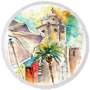 Cadiz Spain 12 Round Beach Towel