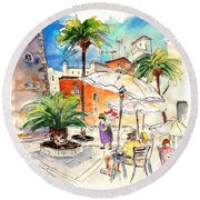 Cadiz Spain 13 Round Beach Towel