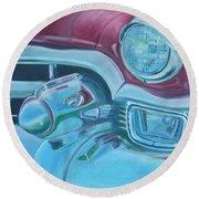Cadzilla 1953 Cadillac Series 62 Convertible Round Beach Towel