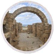 Caesarea The Hippodrome Round Beach Towel