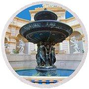 Caesars Fountain Round Beach Towel