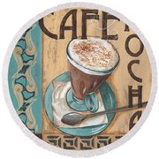 Cafe Nouveau 1 Round Beach Towel