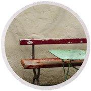 Cafeteria Round Beach Towel by Margie Hurwich