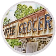 Caffee Grocery Round Beach Towel