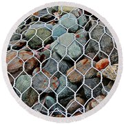 Caged By Barbara Griffin Round Beach Towel