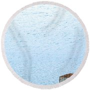 Caged Expanse Round Beach Towel