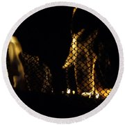 Caged Fire Round Beach Towel