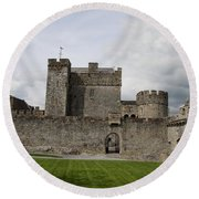 Cahir's Castle Second Courtyard Round Beach Towel