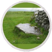 Cairn T At Loughcrew Round Beach Towel