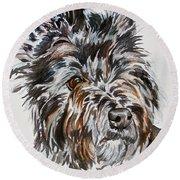 Cairn Terrier Martha Round Beach Towel
