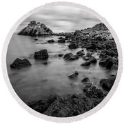 Cairncastle Ruin Round Beach Towel
