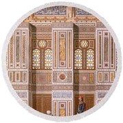 Cairo Interior Of The Mosque Round Beach Towel