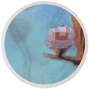 Cakes In Tutus In A Tree Round Beach Towel