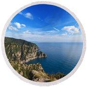 Cala Dell'oro - Italy Round Beach Towel
