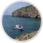 Cales Coves Round Beach Towel