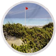 Caleta De Famara Beach Lanzarote Round Beach Towel