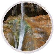 Calf Creek Falls 2 Round Beach Towel