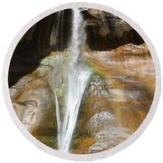 Calf Creek Falls 3 Round Beach Towel