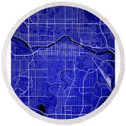 Calgary Street Map - Calgary Canada Road Map Art On Colored Back Round Beach Towel