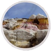 Calhan Paint Mines 2 Round Beach Towel