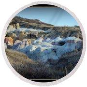 Calhan Paint Mines Landscape Round Beach Towel